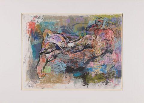 Thomas Gatzemeier | Auf der Wiese 2001 | Pastell