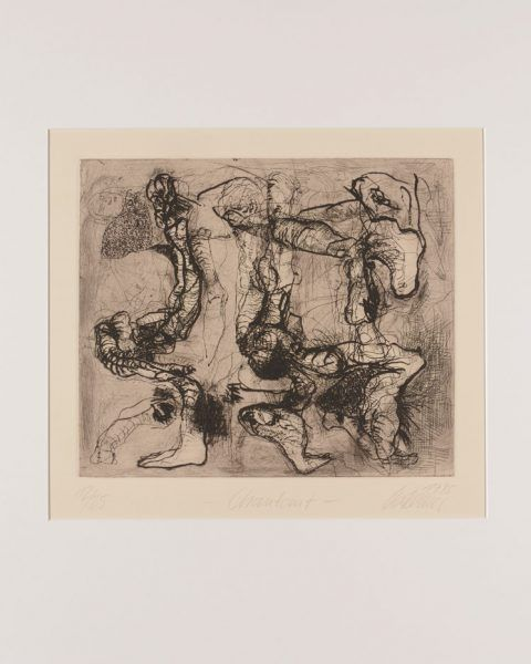 Chantant 1995 Radierung, Kaltnadel 28,2 x 33,2 cm
