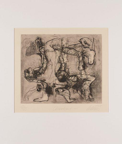 Thomas Gatzemeier | Chantant | 1995 | Radierung Kaltnadel 28,2 x 33,2 cm