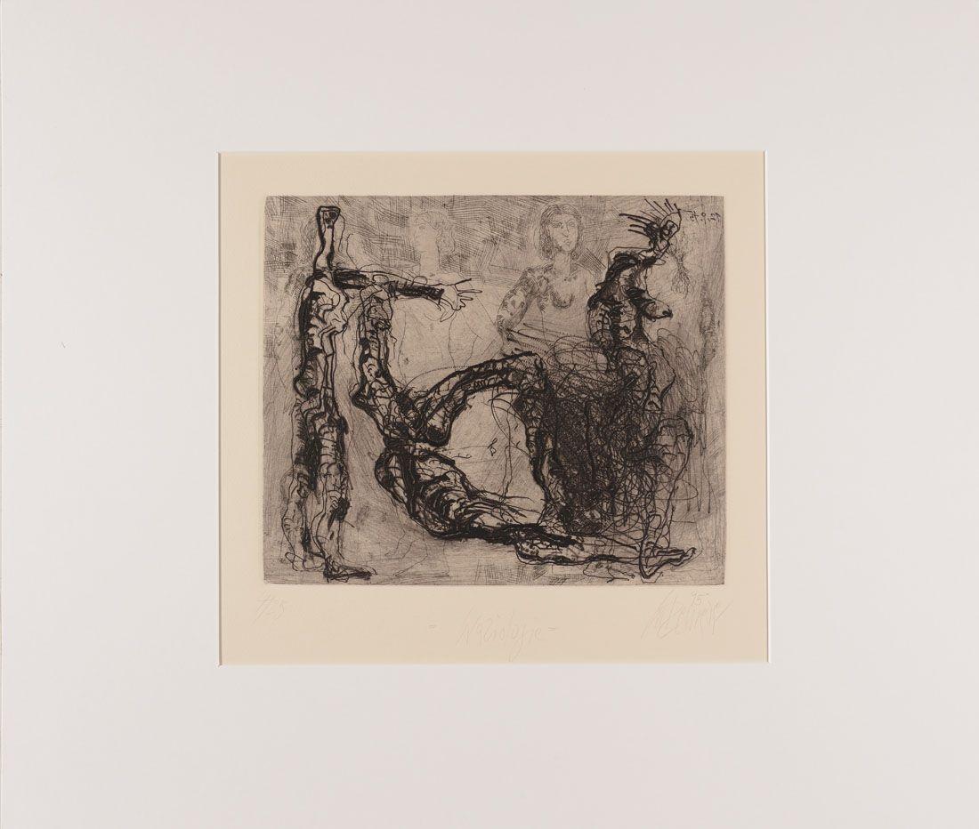 Thomas Gatzemeier | Graziologie | 1995 | Radierung Kaltnadel 28,2 x 33,2 cm