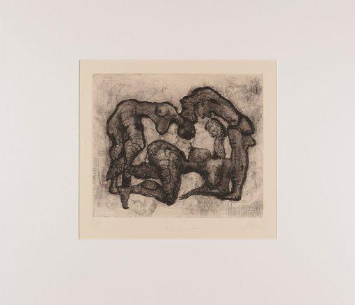 Thomas Gatzemeier | Reigen | 1995 | Radierung Kaltnadel 28,2 x 33,2 cm