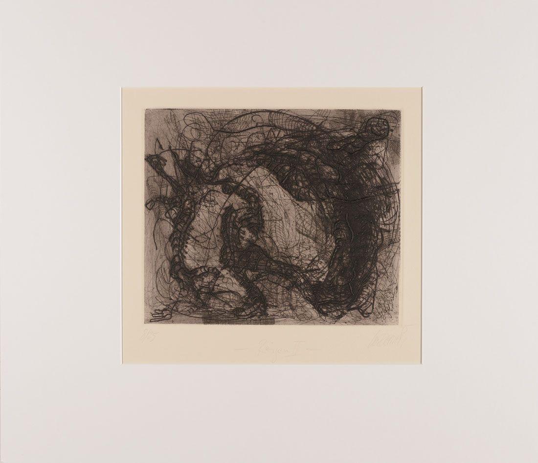Thomas Gatzemeier | Reigen II | 1995 | Radierung, Kaltnadel 28,2 x 33,2 cm
