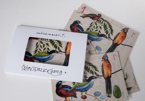 Thomas Gatzemeier | 12 Kunstpostkarten | Osterspaziergang