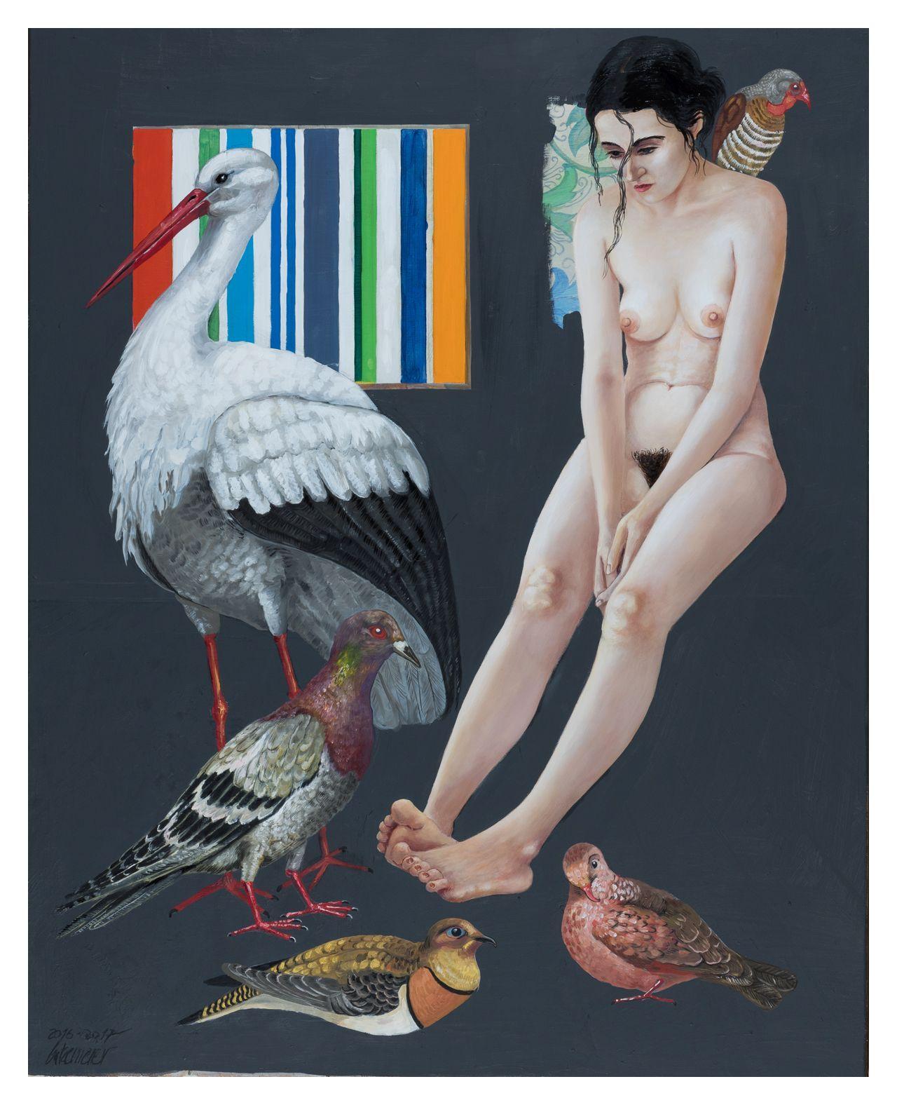 Thomas Gatzemeier Vogelmädchen 2017 als Kunstdruck