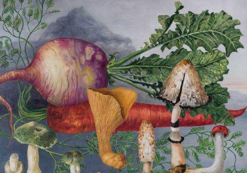 Die-mystische-Möhre-2017-Öl-auf-Leinwand-100-x-120-cm