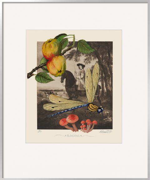 Thomas Gatzemeier Reiterbildnis ist eine surreale Malereicollage