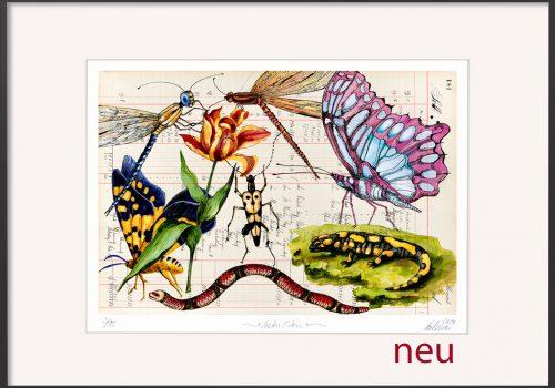 NEU-Thomas-Gatzemeier-Garten-Eden-limitiert-Alu-Rahmen-schwarz