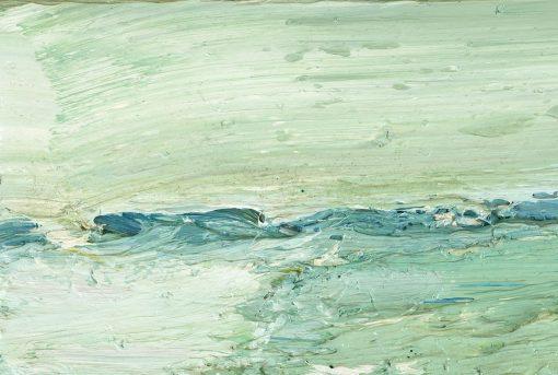 Farbaufrag eines pastos gemalten Ölgemäldes
