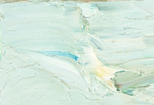 Differenzierter, pastoser Farbauftrag auf einem Gemälde