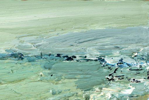 Fragment eines pastos gemalten Ölgemäldes