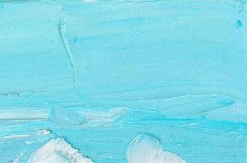Hellblau Detail einer Malerei