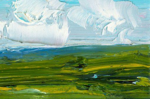 Detail des Horizonts auf einem Landschaftsgemälde
