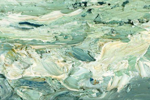 Detail eines pastos gemalten Ölgemäldes