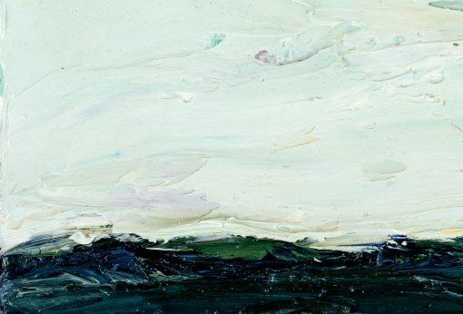 Dick aufgetragene reine Ölfarbe auf einem Gemälde