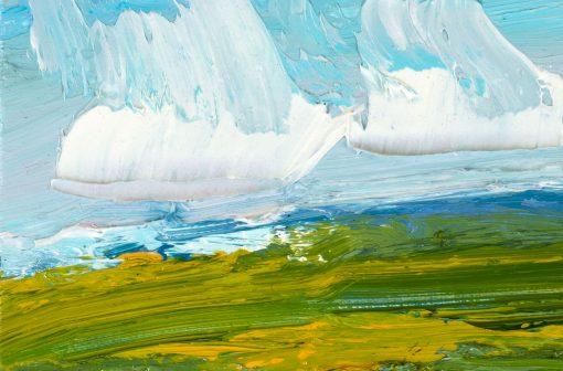 Detail einer expressiv gemalten Wolke