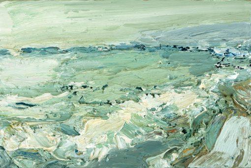 Gemälde einer wilden See