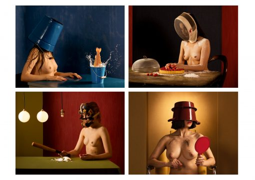 Horst Kistner Kunstpostkarten Faces im Großformat mit vier Motiven
