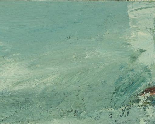 Farbübergänge im Himmel eines Ölbildes.