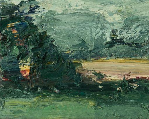 Ein Gemälde ganz aus der Nähe betrachtet.