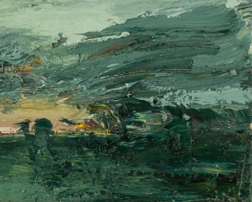 Pastos gemaltes Landschaftsbild im Detail aufgenommen.