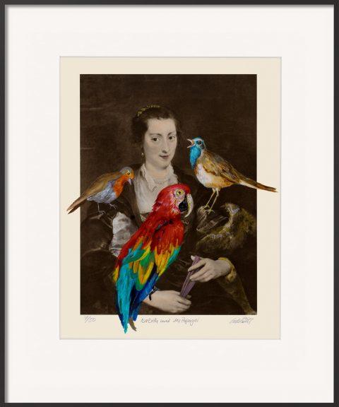 Isabella und der Papagei ist eine Grafik von Thomas Gatzemeier nach Rubens