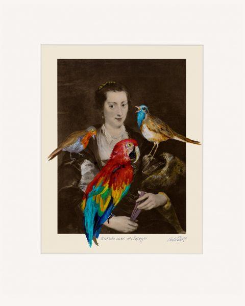 Thomas Gatzemeier Isabella und der Papagei ist ein Pigmentdruck