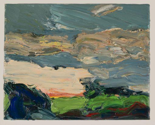 Das Landschaftsgemälde von Torsten Ueschner #64 zeigt eine mittelsächsische Landschaft