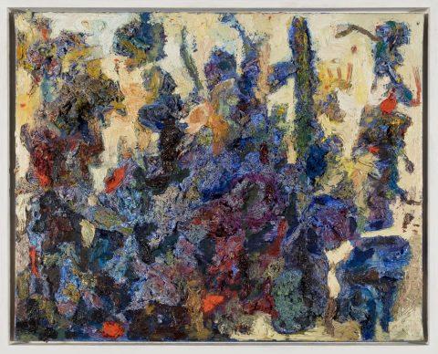 Gemälde Blau-Wald von Thomas Gatzemeier. Pastoses Ölgemälde.
