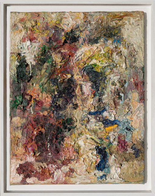 Ein Ölgemälde von Thomas-Gatzemeier Wildkopf aus dem Jahr 2003 pastos Öl auf Leinwand in der Größe 50 x 40 cm