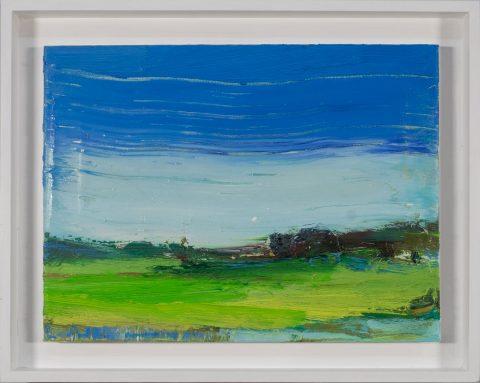 Torsten Ueschner`s Landschaft mit der Nummer 242 ist kompositorisch einfach aufgebaut und von großer Wirkung.