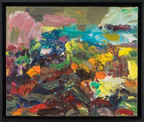 Torsten Ueschner Sommerlandschaft Nr.276 ist ein farbintensives Landschaftsgemälde mit den warmen Farben des Hochsommers.