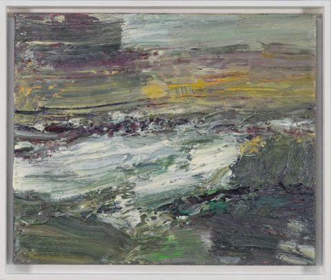 Das Gemälde von Torsten Ueschner aufgewühltes Meer Nr.293 ist ein gutes Beispiel zeitgenössischer Landschaftsmalerei